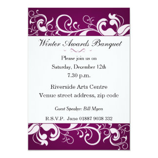 Floral Banquet Invitation