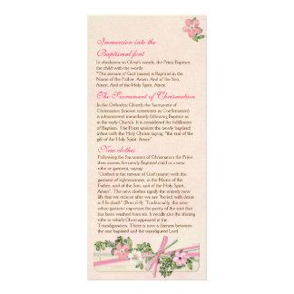 Floral Baptismal Program 4/5