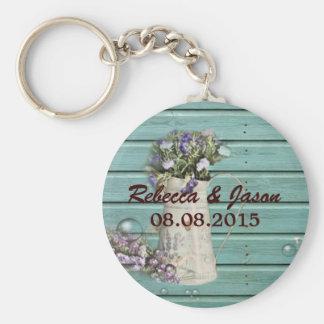 floral barn wood rustic wedding thank you keychain