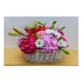 Floral basket photo art