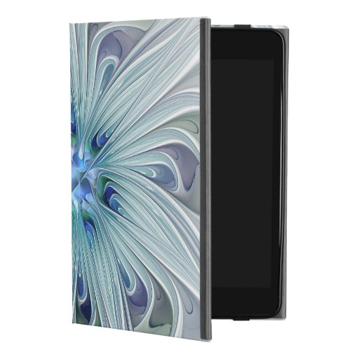 Floral Beauty Abstract Modern Blue Pastel Flower iPad Mini 4 Case
