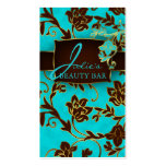 Floral Beauty Business Cards Gold Trim