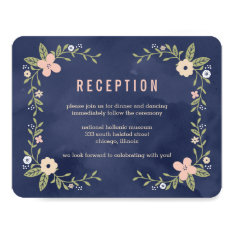 Floral Beauty Editable Color Reception Card at Zazzle