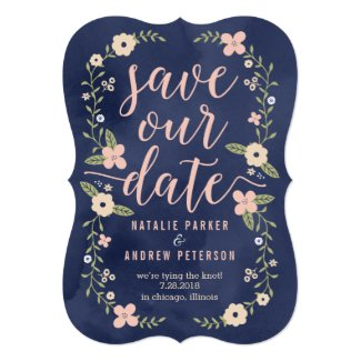 Floral wedding collection all the things you need for your big day floral beauty editable color save the date card stopboris Images