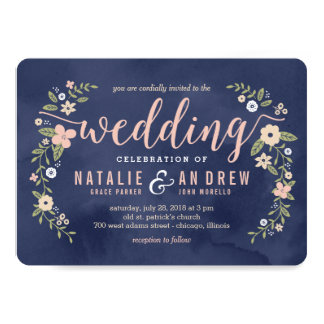 Floral Beauty Editable Color Wedding Invitation