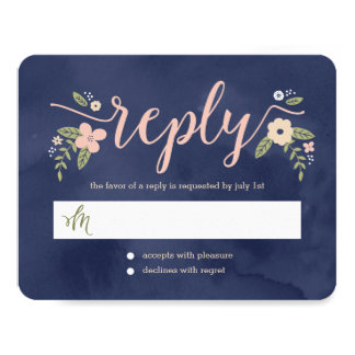 Floral Beauty Editable Color Wedding Response Card