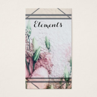 Floral Beauty Elements Business Card