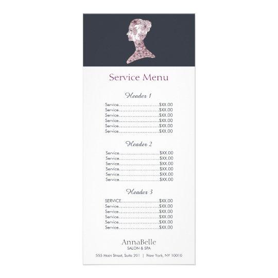 floral beauty face salon price list menu