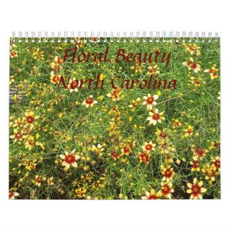 Floral Beauty, North Carolina Calendar