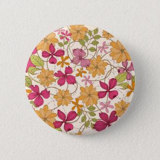 Floral beauty pinback button