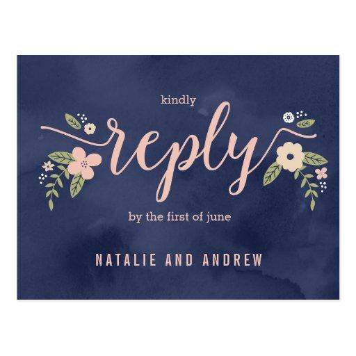 Floral Beauty RSVP Postcard Editable...