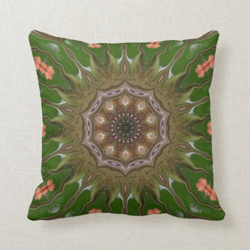 Floral Beauty. Throw Pillow