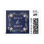 Floral Beauty Wedding Postage Stamp