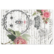 Floral Bee Image Transfer Sheet