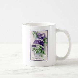 Floral Bell Vintage New Year Coffee Mug
