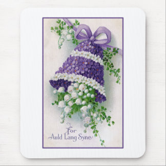 Floral Bell Vintage New Year Mouse Pad