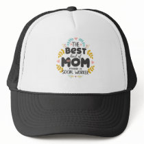 Floral Best Kind Of Mom SOCIAL WORKER Mothers' Day Trucker Hat