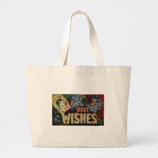 Floral Best Wishes Jumbo Tote Bag