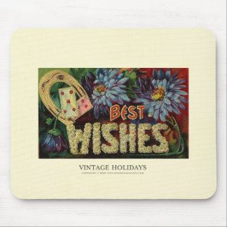 Floral Best Wishes Mouse Pads
