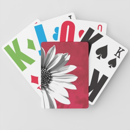 floral bicycle playing cards
