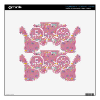 Floral Bicycle Wheel Pattern Decal For PS3 Controller