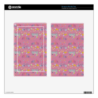 Floral Bicycle Wheel Pattern Kindle Fire Skin