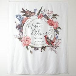Floral Bird Wedding Backdrop Reception Decor