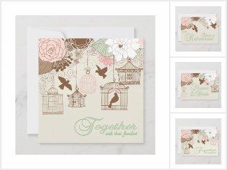 Floral Birdcage Pink