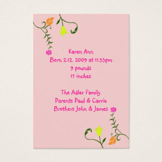 Floral Birth Announcement Cards