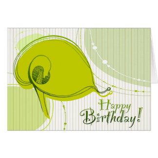 Floral Birthday Greeting Card