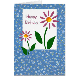 Floral Birthday Card (Large Print)