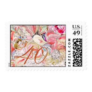 Floral Birthday Stamp
