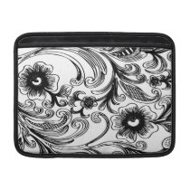 floral black and white MacBook air sleeve