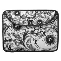 floral black and white sleeve for MacBook pro