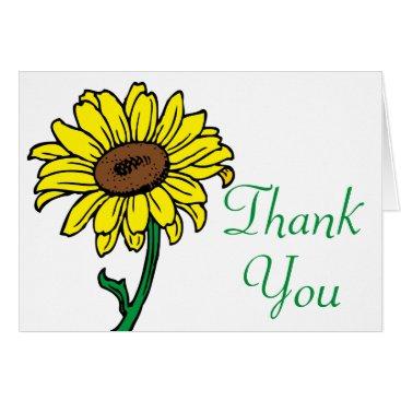 Beach Themed Floral Black Chalkboard Thank You Flowers Wreath Card