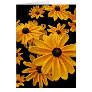 Floral Black Eyed Susan Flowers Birthday Card