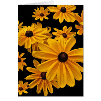 Floral Black Eyed Susan Flowers Blank Card