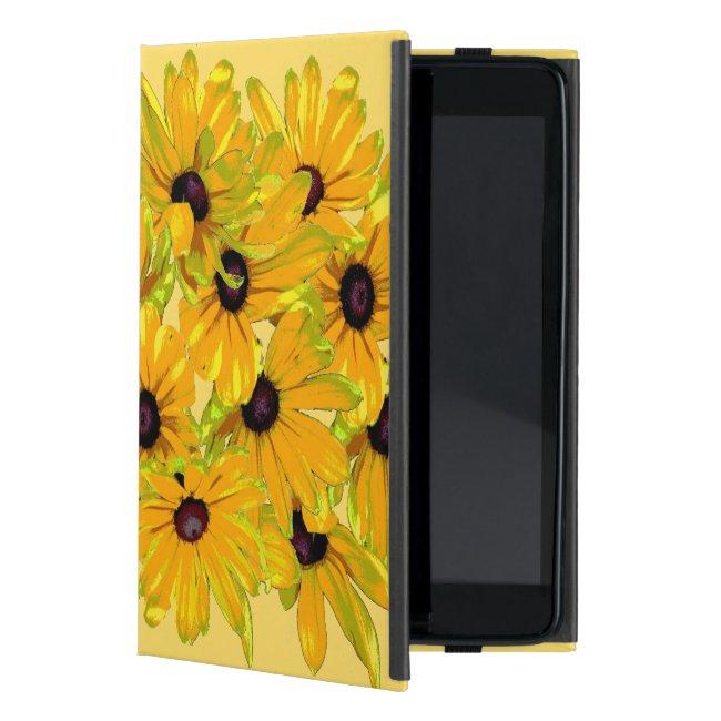 Floral Black Eyed Susan Flowers iPad Mini Case