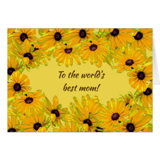 Floral Black Eyed Susan Flowers Mothers Day Card