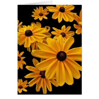 Floral Black Eyed Susan Flowers Thank You Card