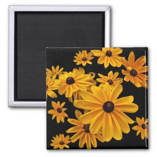 Floral Black-eyed Susan Yellow Flower Magnet