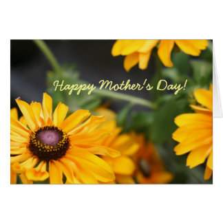 Floral Black Eyed Susans Photo Mother's Day Blank