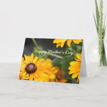 Floral Black Eyed Susans Photo Mother's Day Blank Thank You Card