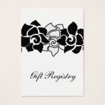 floral black Gift registry  Cards