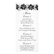floral black Wedding menu