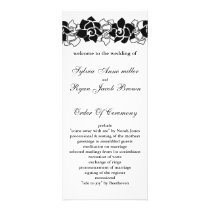 floral black Wedding program