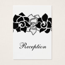 floral black wedding Reception Cards