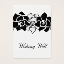 floral black wishing well cards
