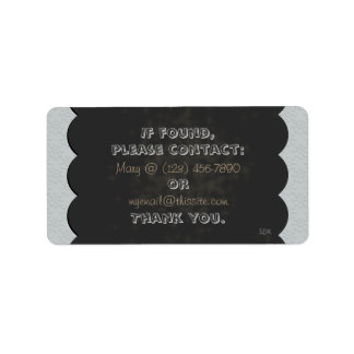 Floral Blackboard Chalk U Pick Color/ Lost & Found Label