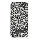 Floral blanco negro de la MOD de la moda Funda De iPhone 6 Barely There
